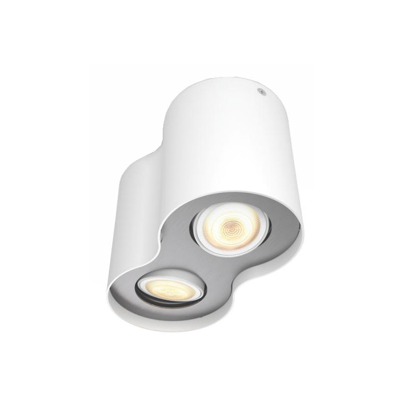 philips hue pillar 2 spot wit met dimmer smart lampen kopen. Black Bedroom Furniture Sets. Home Design Ideas