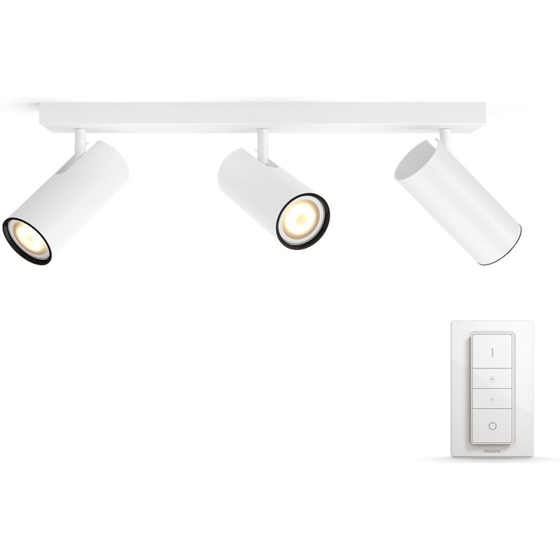 Ny Philips Hue Buratto 3-Spot Wit met Dimmer Smart lampen kopen? LP61