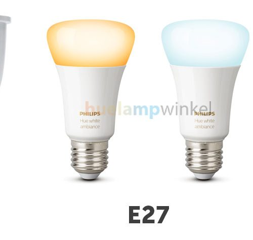 Philips Hue heeft lampen met fittingen in GU10, E27 en E14